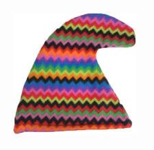 Rainbow Garden Gnome Hat Seven 7 Dwarves Smurf Smurfette Curley Hat Fancy Dress
