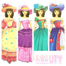 BEAUTY and the BEAST 2 Paper dolls  Fairy Tale Belle Queen Princess