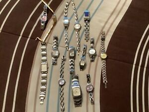 LOT OF MISC. FOSSIL AND RELIC WOMENS WATCHES FOR PARTS OR REPAIR