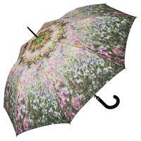 Regenschirm  Automatik Damen Motiv Blumen lila flieder Maler Claude Monet Garten