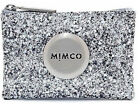 Mimco Tiny Sparks Silver Glitter small pouch clutch wallet purse leather Genuine