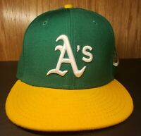 Oakland A's Green MLB New Era Cooperstown Collection 1973 World Series fit 7 1/4