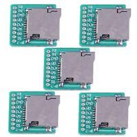 5pcs Micro SD Card TF Card Breakout Transfer Board Pinboard Module Converter