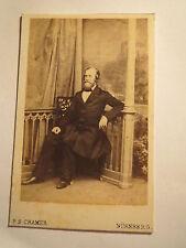 Nürnberg - 1863 - Moritz Eidam - Hofrat in Ansbach - 42 Jahre alt / CDV