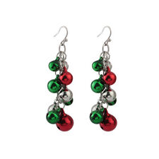 Women Fashion Jingle Bells Christmas Chandelier Alloy Earrings Jewelry Xmas Gift