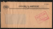 South West Africa Cover Keetmanshoop 26.06.1989 Official Administration for Nama