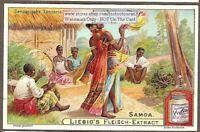 Samoa Pacific Islands Native Dance Music Art 1903 Trade Ad Card