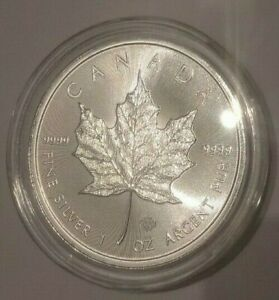 1 Unze Silber-5 Dollar Münze-Canada Maple Leaf 2019-Stempelglanz