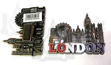 BRITISH SOUVENIRS FRIDGE MAGNET - LONDON SCENE  12 UNION JACK MAGNETS