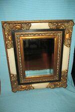 Vtg Ornate Wood Beveled Wall Mirror~28x24~Large/Heavy~Hollywood Regency