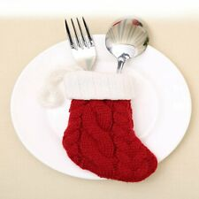 Xmas Hanging Socks Tableware Bag Socks Christmas Knife Fork Spoon Cutlery Cover