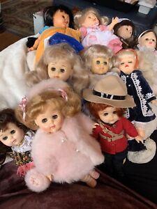 Lot of 10 Very Nice Ginny Dolls