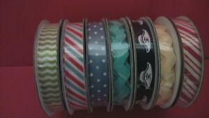 Dovecraft Ribbon,Christmas 1cm x 2 Yds Glitter 1cm x 3Yds Buy 5 Reels Get 1 Free