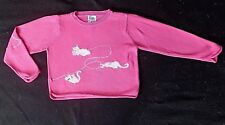 Lilly Pulitzer vintage pink cotton sweater + cats with crystals-10