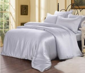 Seamless 1pc 22 Momme 100% Pure Mulberry Silk Doona Duvet Quilt Comforter Cover