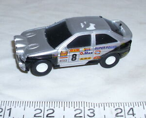 FORD ESCORT ROAD RALLY RACER SLOT CAR 1990s IN SILVER 1/43