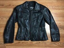 Stunner Vintage 80s Black Wilson Wilsons Mod Leather Jacket Maxima