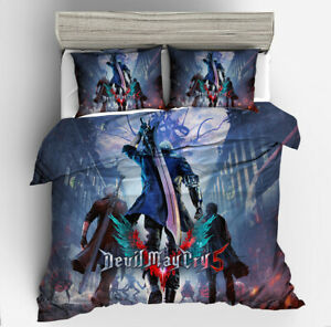 Devil May Cry DMC Design 3PCS Bedding Set Duvet Cover Pillowcase Comforter Cover