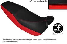 RED & BLACK AUTOMOTIVE VINYL CUSTOM FITS HONDA FX 650 VIGOR DUAL SEAT COVER ONLY