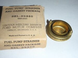 NOS Fuel Pump Filter Strainer 49 50 51 Lincoln 337 V8 1949 1950 1951 # 8EL-99360