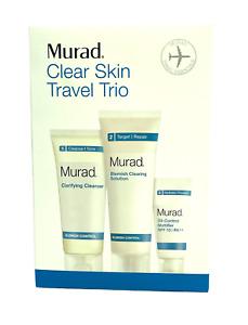 Murad Clear Skin Travel Trio Travel Essentials (Lot of 3) New In Box