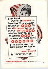 1956 PAPER AD Horsman Dolls Draft Dodger Doll Toy Fair