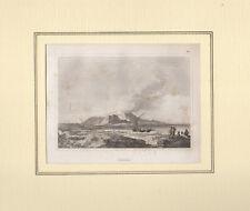 Antica stampa Isola di Vulcano Eolie Sicilia Audot Pomba originale 1836