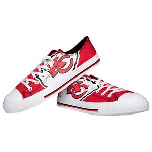Kansas City Chiefs Big Logo Low Top Sneakers Team Color Shoes US Men's Sizing