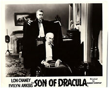 Son of Dracula original lobby card Lon Chaney approaches man in wheelchair 1943