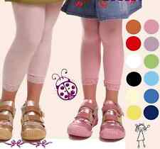 Niños leggings leggins encaje 60 den 7/8 110 122-146
