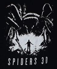 Spiders 3D 2013 SciFi Monster Thriller Film Movie Adult Large T-Shirt Black