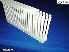 """18 New 1""""x4""""x2m Narrow Finger Open Slot Wiring Duct/Cable Raceway Cover, White"""