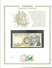 LESOTHO 2 MALOTI Banknote WORLD CURRENCY COLLECTION Paper Money UNC Stamp MINT