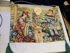 13 x 16 PIPE ORGAN AND LUTE VICTORIAN WALL TAPESTRY reproduction