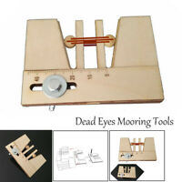 Wooden Dead Eyes Mooring Tools Fix Tool for Wood Ship Model Kit 1 pecs/packet
