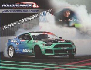 2019 Justin Pawlak Roadrunner Ford Mustang PRI Show Promo Formula Drift postcard