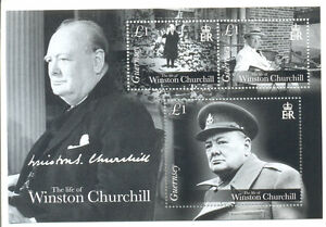 Guernsey-The Life of Sir Winston Churchill min sheet mnh(2015 new issue)
