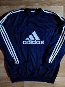 Adidas 90's Vintage FC Barbaros Sweatshirt Track Jacket Crewneck Football Navy