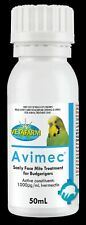 Vetafarm Avimec 50ml Scaly Face Mite Treatment For Budgerigars