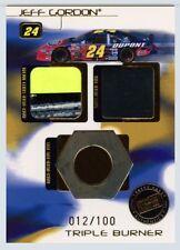 Jeff Gordon 2004 Press Pass Triple Burner RU Sheet Metal Tire & Lug Nut 012/100