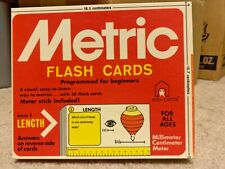 Metric Flash Cards Flashcards Programmed for Beginners Series 1 Length All Ages