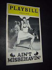 Plymouth Theatre Playbill - February 1979 AIN'T MISBEHAVIN