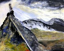 """The Glyders, Snowdonia"".  Original Painting by John Fielder Lee"