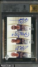 2006-07 UD Trilogy Trio Signatures Carter/Kidd/Jefferson BGS 9/10