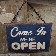 Open/Closed Hanging Metal SIGN*Retro Diner/Office Style*Wall/Door/Window Decor