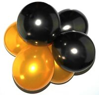 Pack of 25 12'' Latex Pearl Black Gold Balloons Wedding Party Helium Air