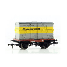 Bachmann 37-952 Conflat with BD Container Speedfreight Grey & Yellow OO