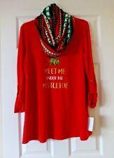 Christmas Sweater and Infinity Scarf by Tiara International Size Medium