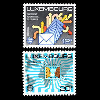 Luxembourg 1987 - EUROPA Stamps - Transportation & Communication - Sc 787/8 MNH