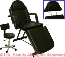 Black Adjustable Massage Facial Table Bed Chair Barber Beauty Salon Equipment